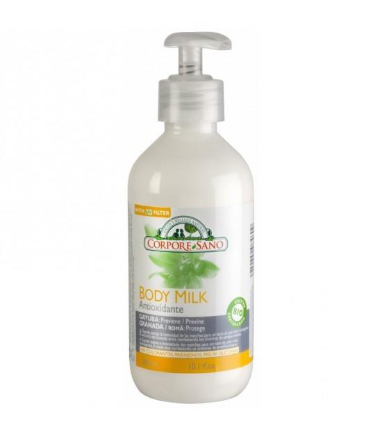 Body milk antioxidante gayuba granada CORPORE SANO 300 ml
