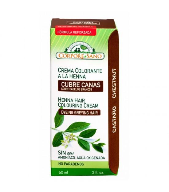 Crema colorante castaño CORPORE SANO 60 ml
