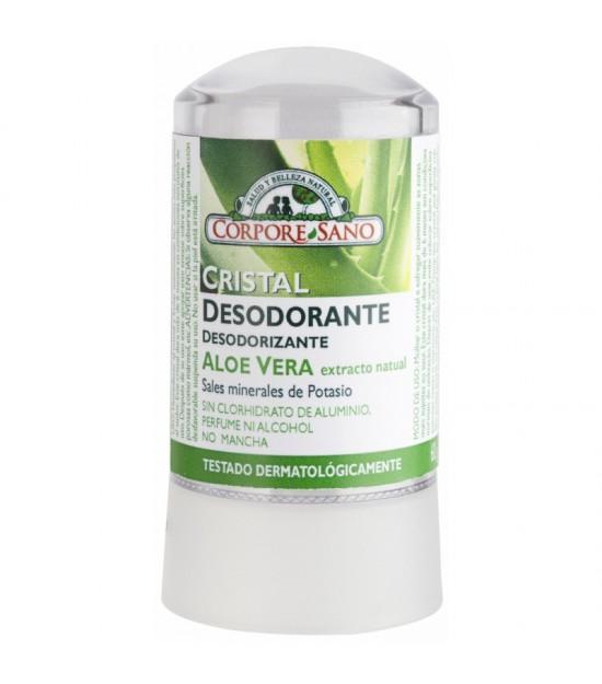 Desodorante mineral potasio aloe vera CORPORE SANO 60 gr
