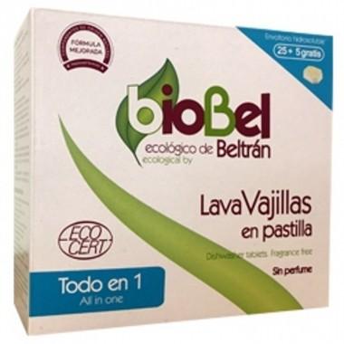 Lavavajillas pastilla BIOBEL 30 unidades (todo en uno)