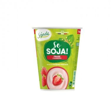 Yogur soja fresa SOJADE 400 gr BIO