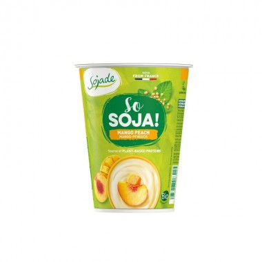 Yogur soja melocoton mango SOJADE 400 gr BIO