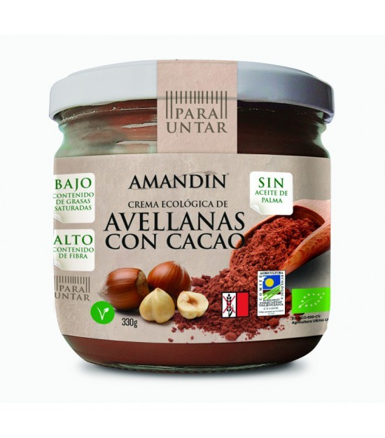 Crema avellana cacao AMANDIN 330 gr