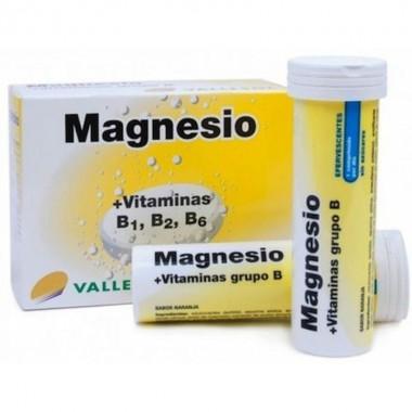 Magnesio y vitamina B efervescente VALLESOL 24 comprimidos