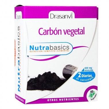 Carbon vegetal nutrabasicos DRASANVI 60 capsulas