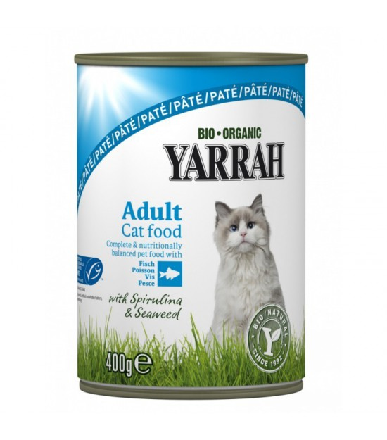Lata gatos pescado YARRAH 400 gr