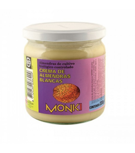 Crema almendra blanca MONKI 330 gr
