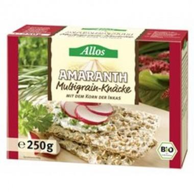 Pan crujiente multicereales amaranto ALLOS 250 gr