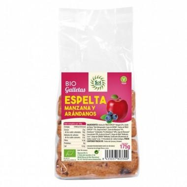 Galleta espelta manzana arandanos SOL NATURAL 175 gr