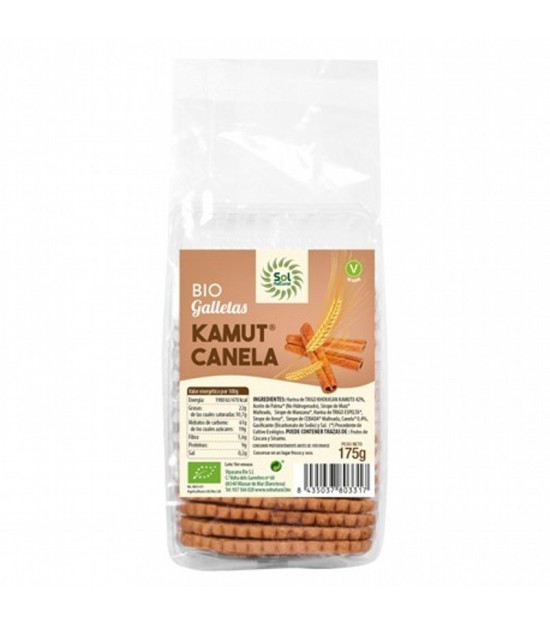 Galleta kamut canela SOL NATURAL 175 gr
