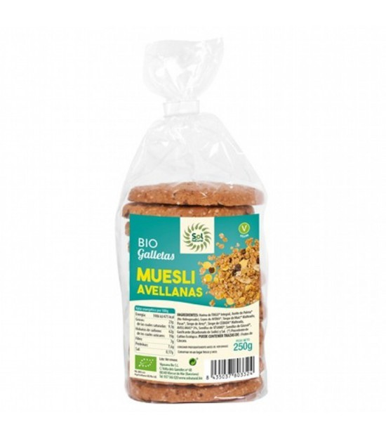 Galleta muesli avellanas SOL NATURAL 250 gr