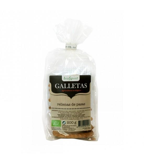 Galleta rellenas pasas SOL NATURAL 200 gr BIO