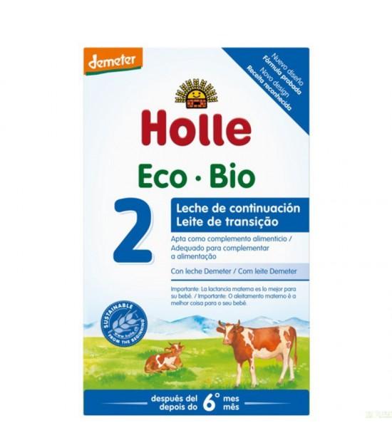 Leche continuacion 2 +6 meses HOLLE 600 gr DEMETER ECO