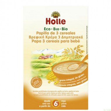 Papilla 3 cereales HOLLE 250 gr ECO