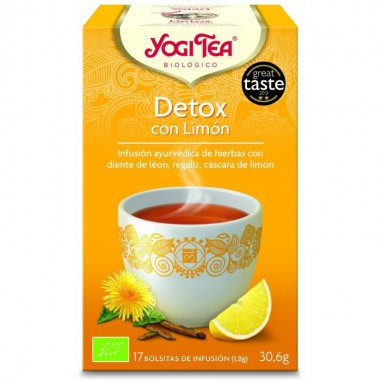 Yogi tea infusion purifica limon detox 17 bolsas BIO
