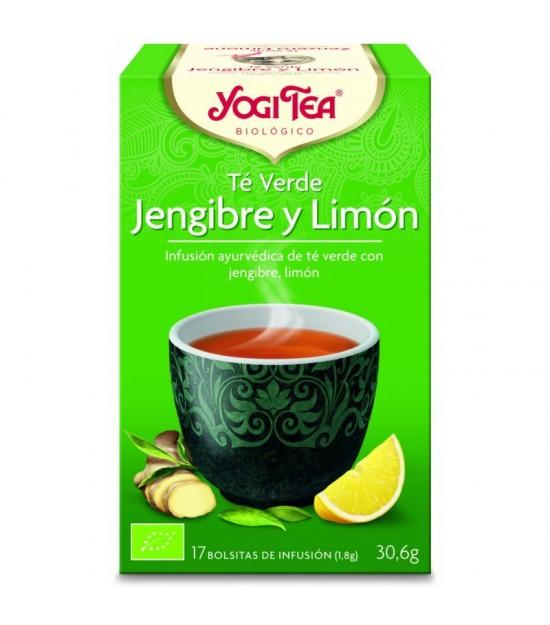Yogi tea infusion te verde jengibre limon 17 bolsas BIO