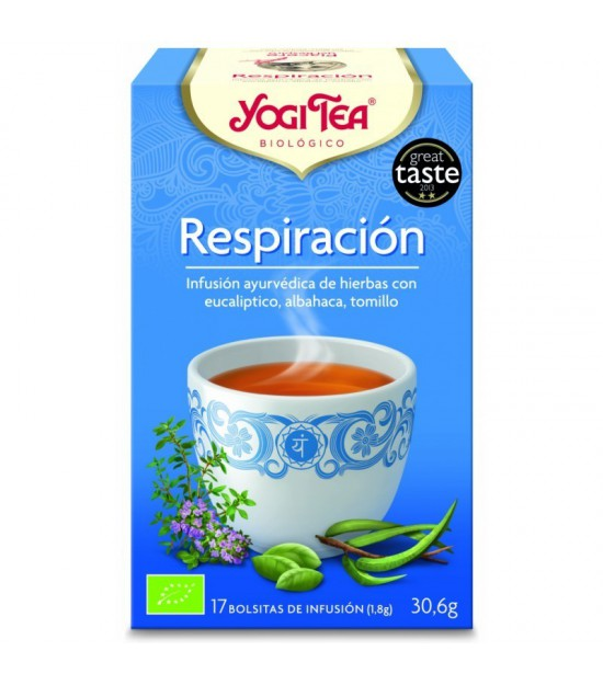 Yogi tea infusion respiracion profunda 17 bolsas BIO