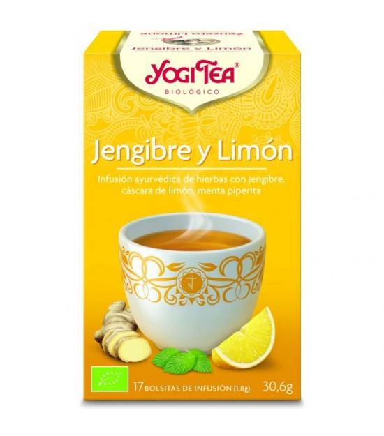Yogi tea infusion jengibre limon 17 bolsas BIO