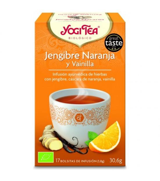 Yogi tea infusion jengibre naranja vainilla 17 bolsas BIO
