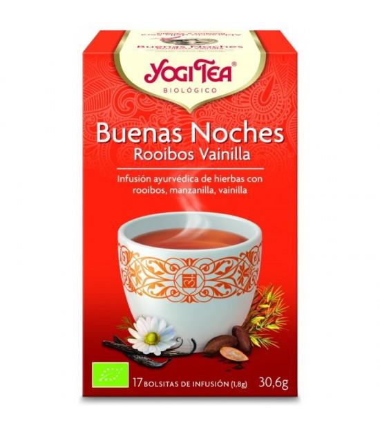 Yogi tea infusion noches rooibos vainilla 17 b BIO