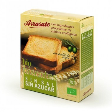 Biscote sin sal sin azucar ARRASATE 270 gr ECO