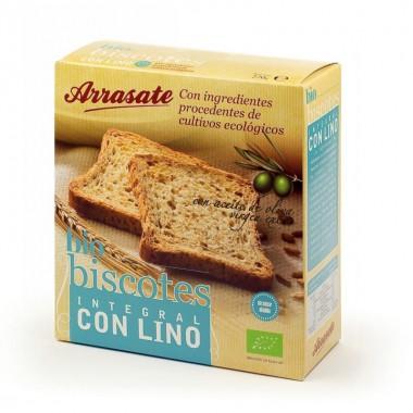 Biscote integral lino ARRASATE 270 gr ECO