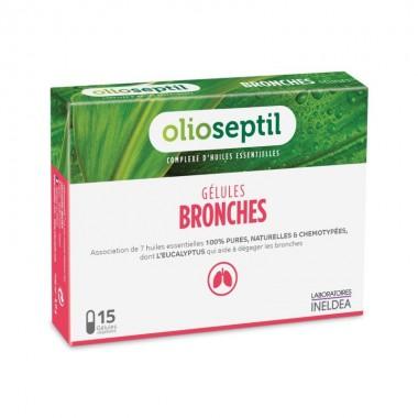 Preparado aceites esenciales bronquios OLIOSEPTIL 15 capsulas
