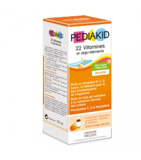 Jarabe infantil 22 vitaminas oliogo PEDIAKID 125 ml