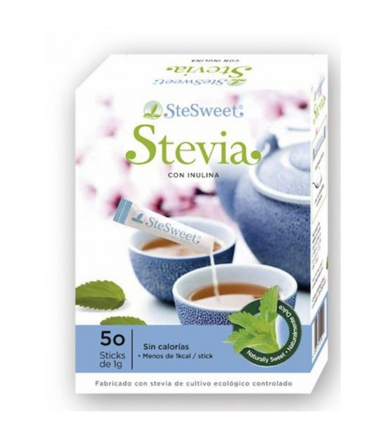 Stevia sticks e inulina STESWEET 50 sticks