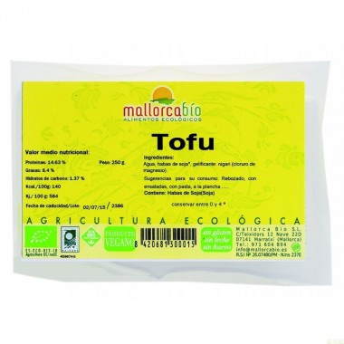 Tofu natural MALLORCA BIO 250 gr