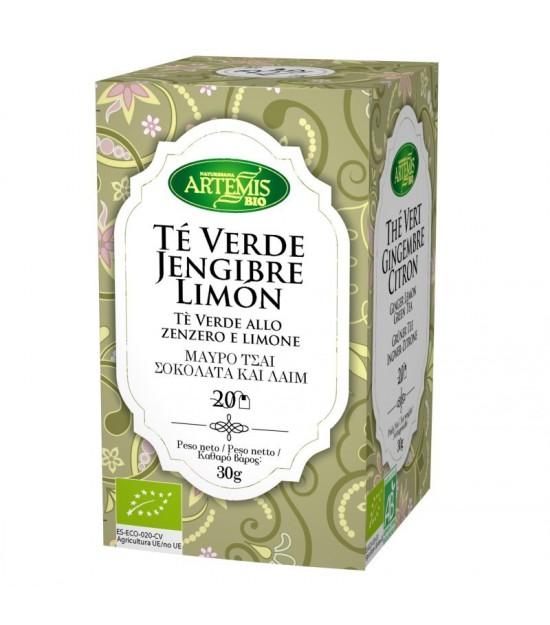 Infusion te verde jengibre limon (20 filtros) ARTEMIS 30 gr