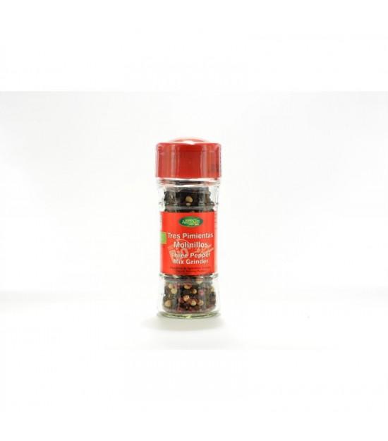 Mezcla tres pimientas molinillo especias ARTEMIS 35 gr