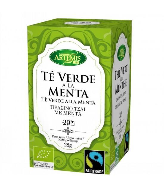 Infusion te verde menta (20 filtros) ARTEMIS 30 gr