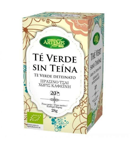 Infusion te verde sin teina (20 filtros) ARTEMIS 30 gr