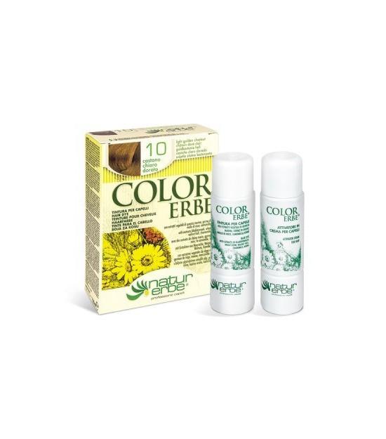 Tinte castaño claro dorado Nº 10 COLOR ERBE