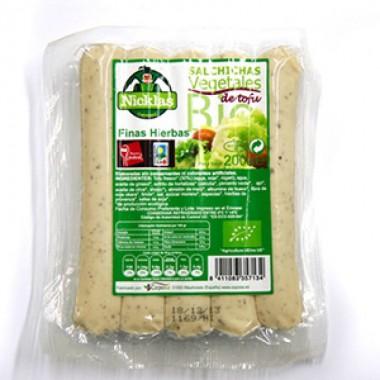 Salchicha tofu finas hierbas nicklas GOIZANE 200 gr BIO