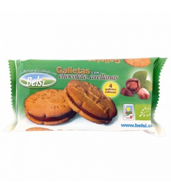 Galleta rellena chocolate avellana BELSI 70 gr