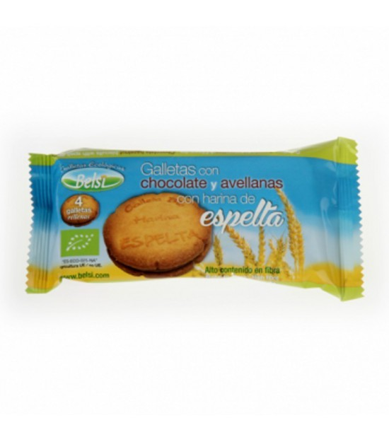 Galleta espelta rellena chocolate avellana BELSI 70 gr