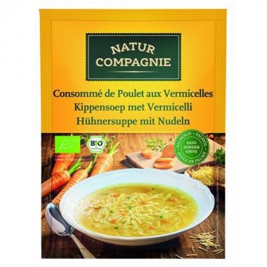 Sopa pollo fideos NATUR COMPAGNE 40 gr BIO