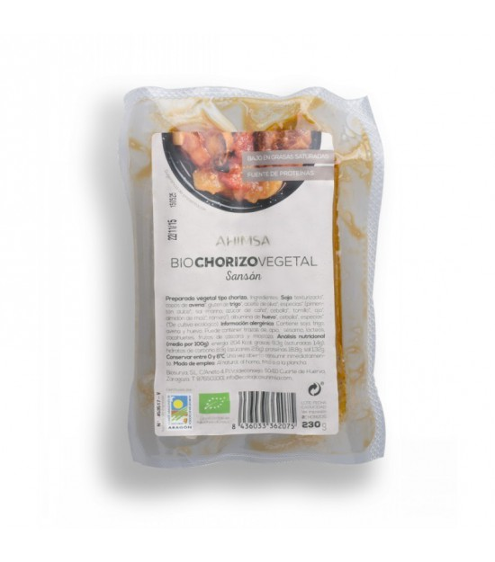 Chorizo Vegetal Sanson AHIMSA 230 gr BIO