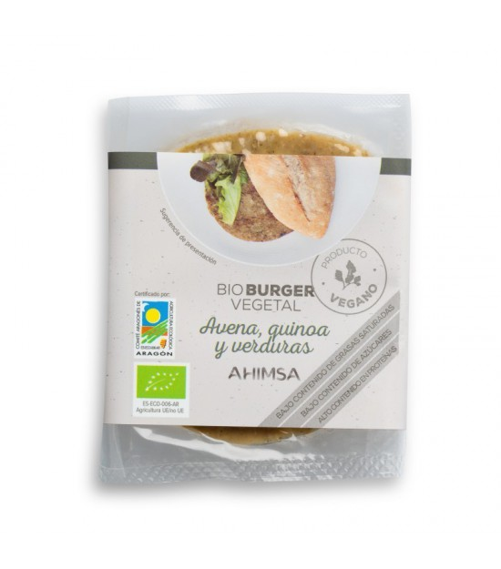 Hamburguesa avena quinoa verduras AHIMSA 160 gr BIO