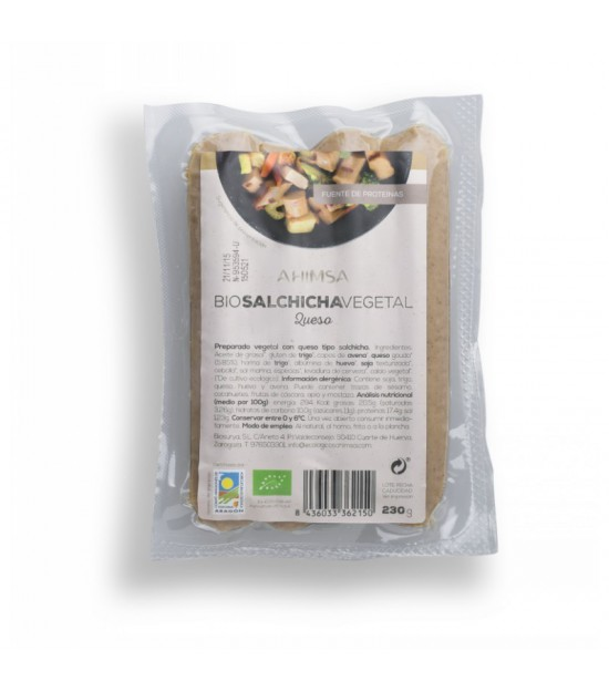 Salchicha queso AHIMSA 230 gr BIO