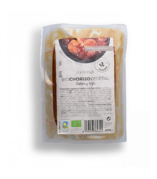 Chorizo Tofu Seitan AHIMSA 200 gr BIO