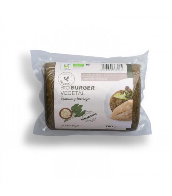 Hamburguesa quinoa borraja AHIMSA 750 gr BIO
