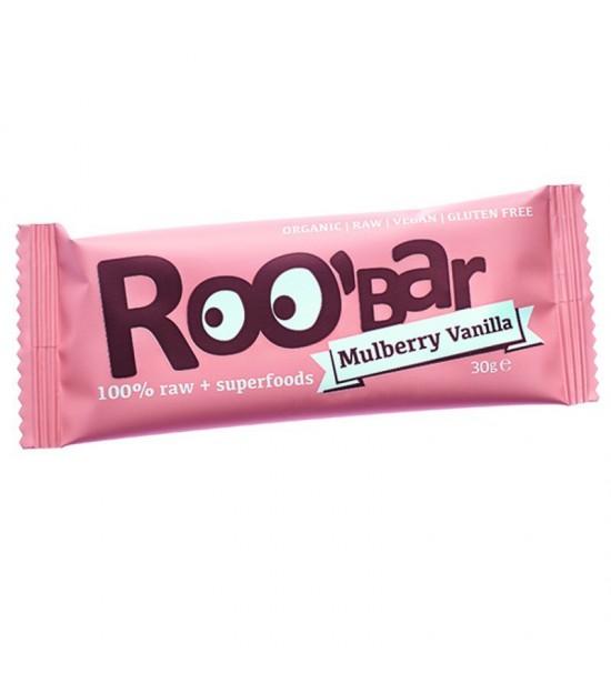 Barrita mulberry vainilla sin gluten ROOBAR 30 gr