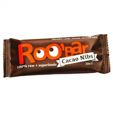 Barrita cacao nibs almendra sin gluten ROOBAR 30 gr