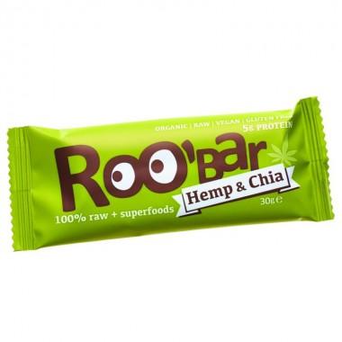 Barrita proteina cañamo sin gluten ROOBAR 30 gr