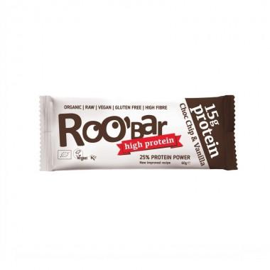 Barrita proteina choco chips vainilla sin gluten ROOBAR 60 gr