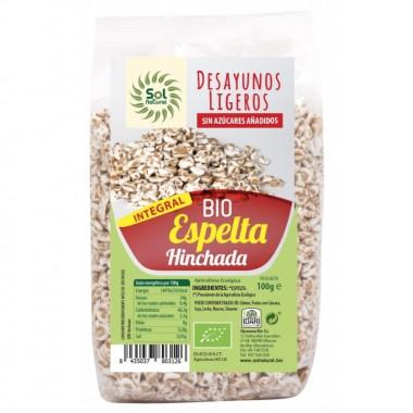 Espelta integral hinchada desayuno SOL NATURAL 100 gr BIO