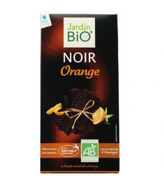 Chocolate negro con naranja JARDIN BIO 100 gr